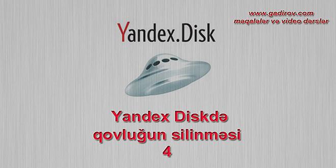Yandex Diskdə qovluğun silinməsi