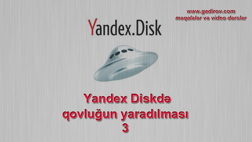 Yandex Diskdə qovluğun yaradılması