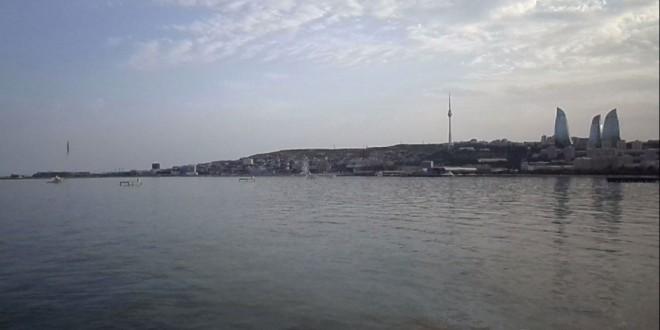 Bakının dənizdən görüntüsü