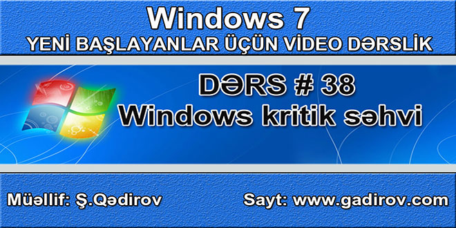 Windows kritik səhvi