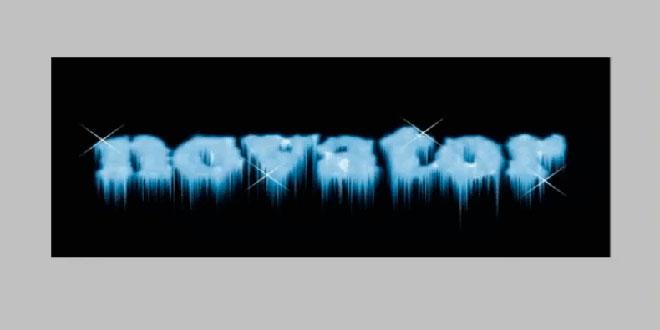 Mətnlərə buz effektinin tətbiqi