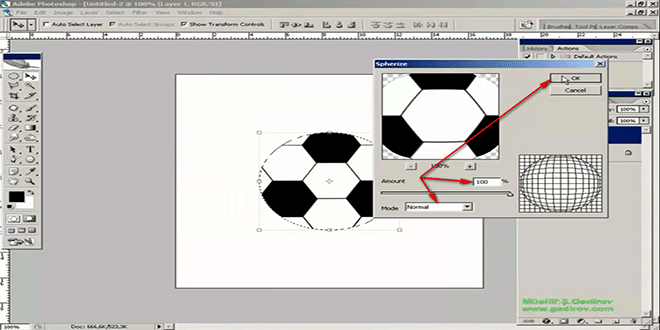 Futbol topu yaratmaq