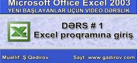 Microsoft Excel 2003 proqramına giriş