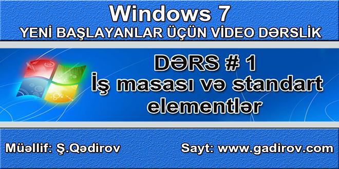 Windows 7-də iş masası