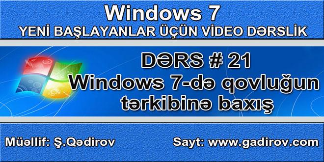 Windows 7-də qovluğun tərkibinə baxış