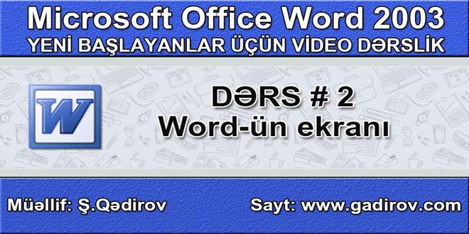 Word-ün ekranı