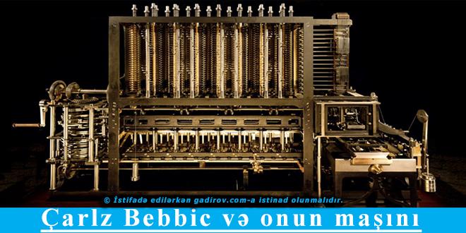 Çarlz Bebbic və onun maşını