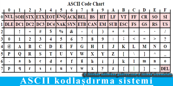 ASCII kodlaşdırma sistemi