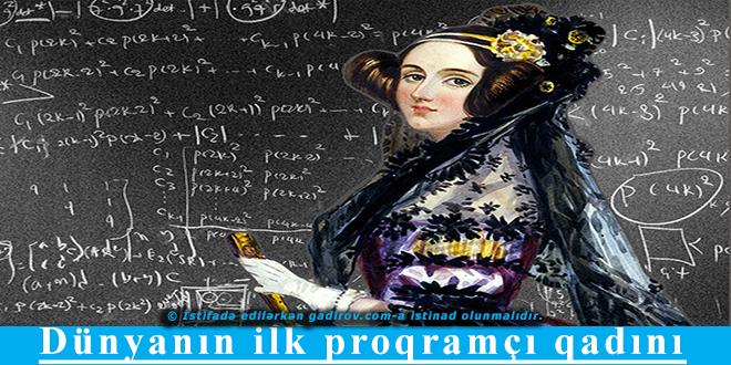 Dünyanın ilk proqramçı qadını