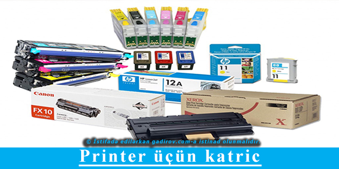 Printer üçün katric