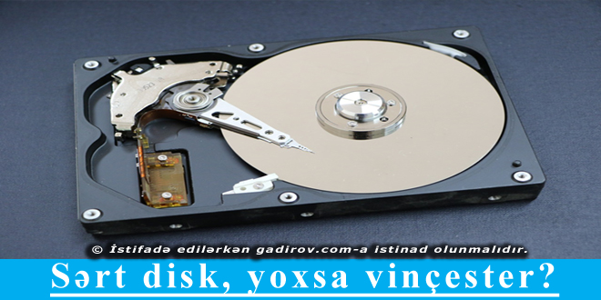 Sərt disk, yoxsa vinçester?