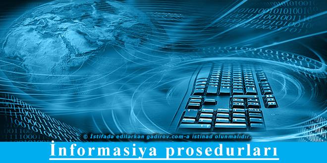 İnformasiya prosedurları