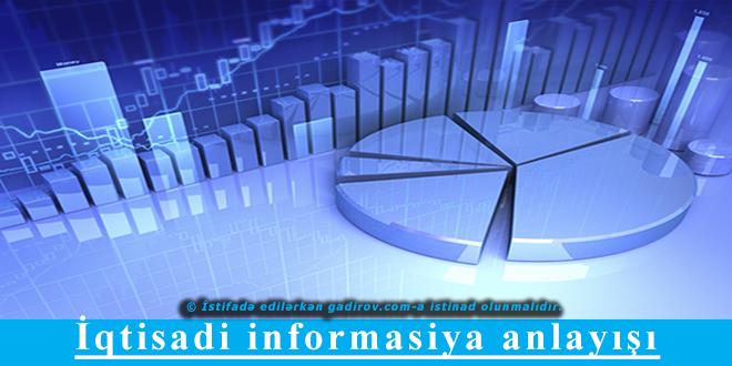 İqtisadi informasiya anlayışı