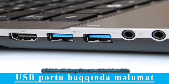 USB portu haqqında məlumat