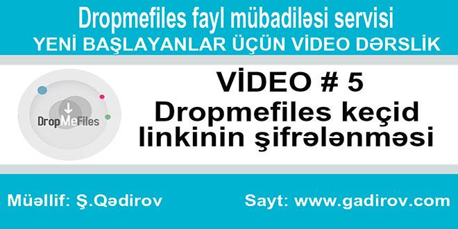 Dropmefiles keçid linkinin şifrələnməsi