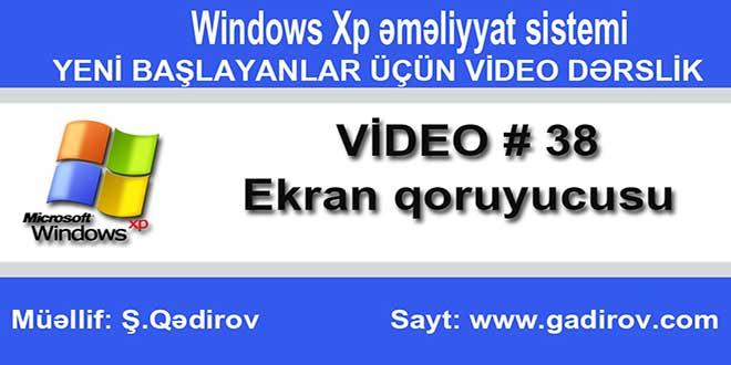 Windows Xp-də ekran qoruyucusu
