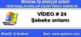 Windows Xp-də şəbəkə anlamı