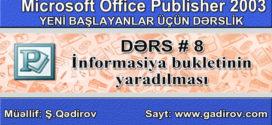 Publisher 2003 informasiya bukletinin yaradılması