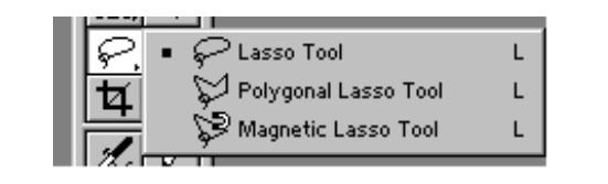 Adobe Photoshop-İxtiyari formalı seçim alətləri