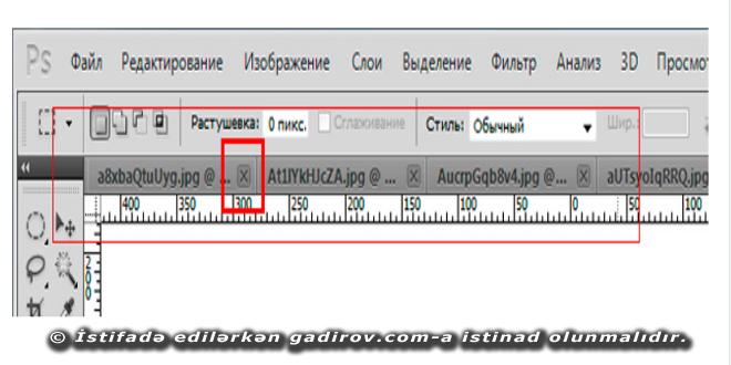 Adobe Photoshop-da pəncərələrin bağlanması üsulları