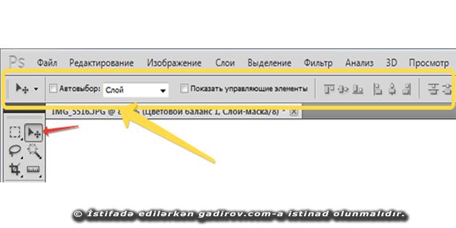 Adobe Photoshop-da parametrlər paneli