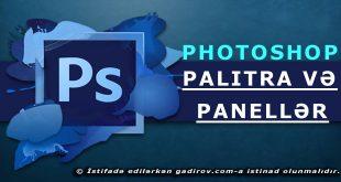 Adobe Photoshop-da palitra və panellər