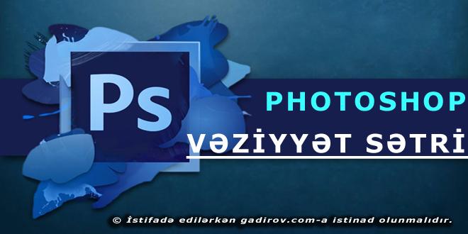 Adobe Photoshop-un vəziyyət sətri
