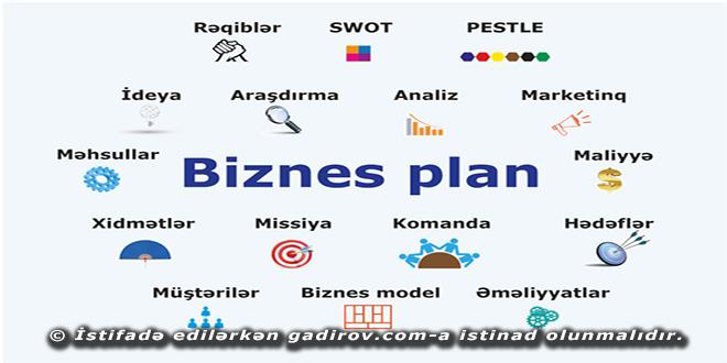 Biznes planın strukturu və tərkibi