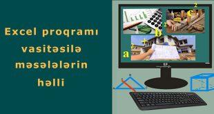 Excel proqramı vasitəsilə məsələlərin həlli