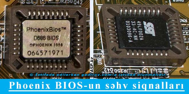 Phoenix BIOS-un səhv siqnalları