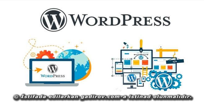 Wordpress Bloqun/videobloqun hazırlanması