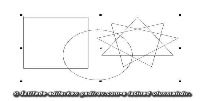 Corel Draw X6 proqramında obyektin seçilməsi