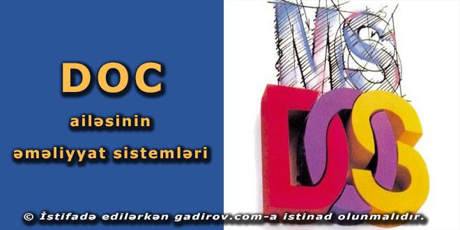 DOS ailəsinin əməliyyat sistemləri