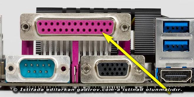 Sistem blokun arxa hissəsi