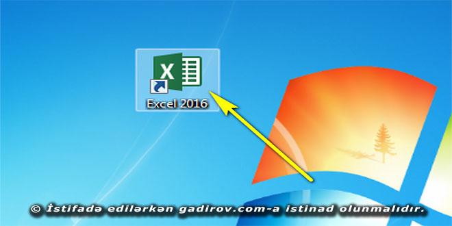 Excel 2016 proqramında kitablarla iş