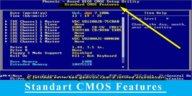 Standart CMOS Setup