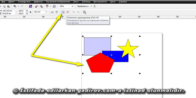 Corel Draw proqramında obyektlərin qruplaşdırılması