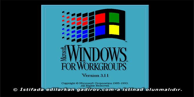 Windows ƏS-nin inkişaf tarixi